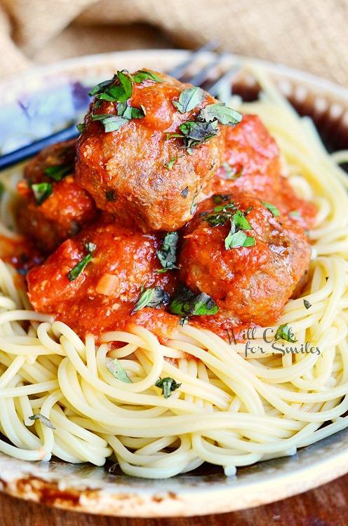Greatest Meatballs Ever! 1 from willcookforsmiles.com #meatballs #beef #pork