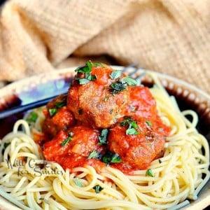Greatest Meatballs Ever!  from willcookforsmiles.com #meatballs #beef #pork