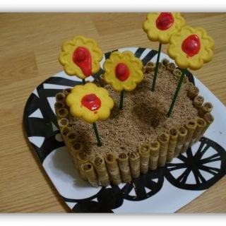 Flower Bed Spring Cake