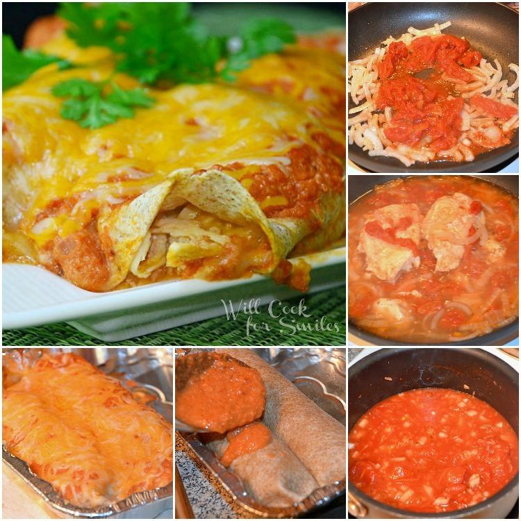 Chicken-Enchiladas- Collage