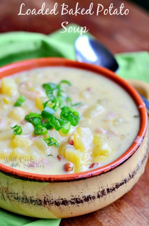 Greatest Baked Potato Soup Ever! from willcookforsmiles.com #soup #potatosoup