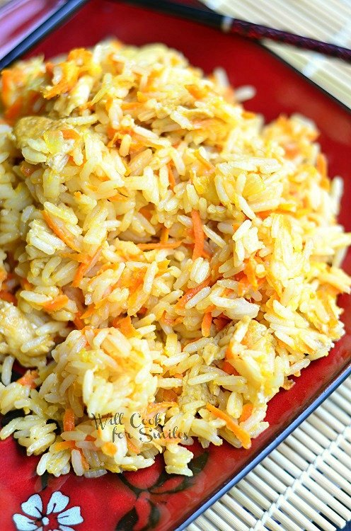Khao Pad (Thai Fried Rice) 1 (c) willcookforsmiles.com #thai #friedrice