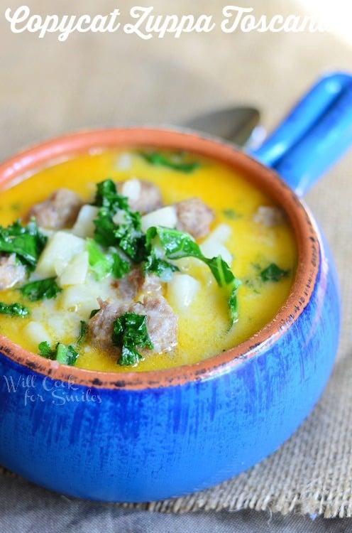Copycat Zuppa Toscana from willcookforsmiles.com #soup #zuppatoscana