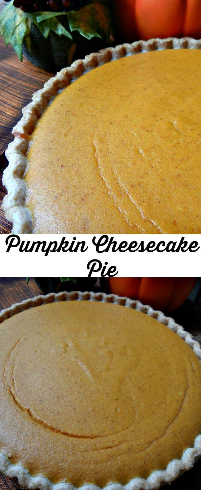 Pumpkin Cheesecake Pie from willcookforsmiles.com #pumpkin #dessert #holiday