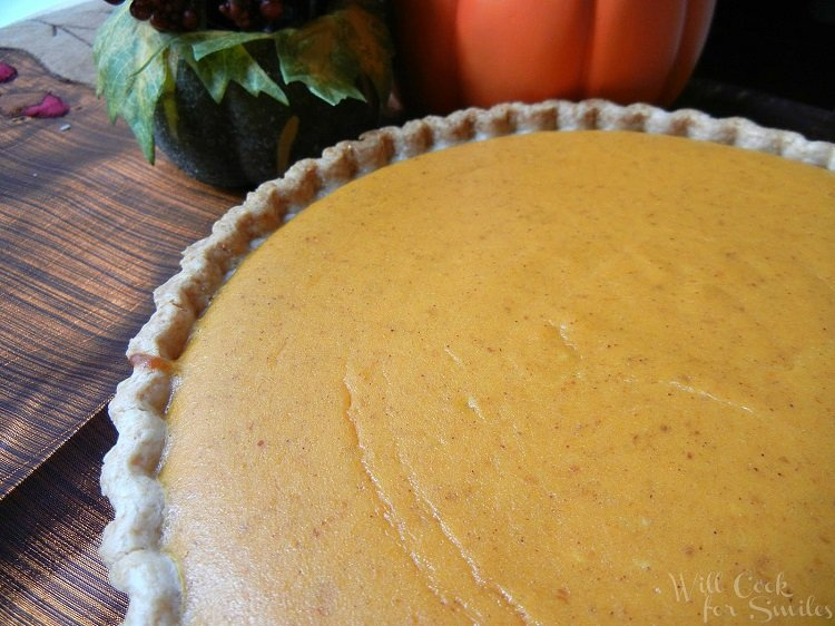 Pumpkin Cheesecake Pie from willcookforsmiles.com