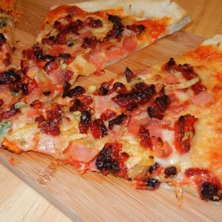 Sun Dried Tomato Bacon Pizza