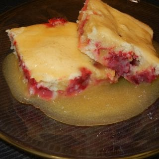 Cranberry Cake with Sweet Sauce