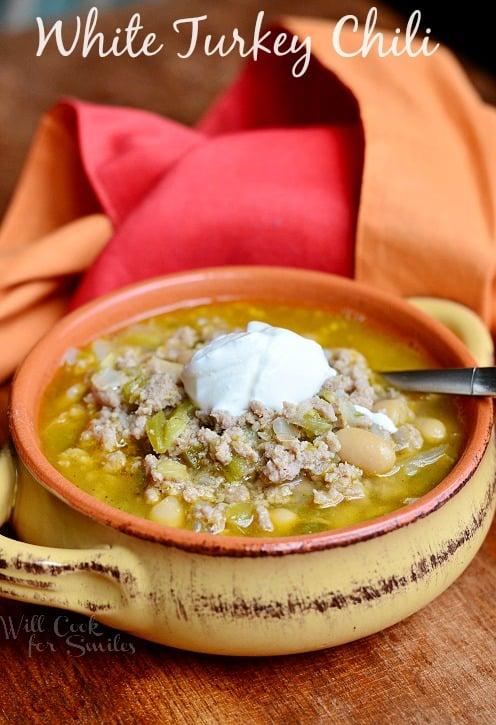 White Turkey Chili from willcookforsmiles.com #chili #turkey