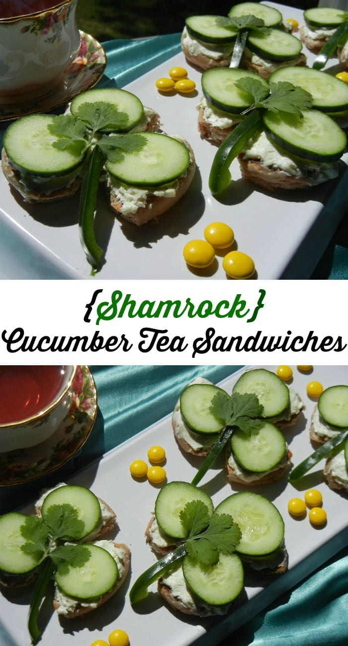 Shamrock Cucumber Tea Sandwiches | from willcookforsmiles.com
