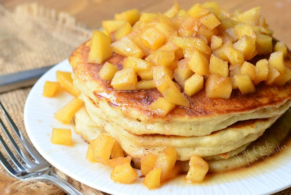 Apple Pie Pancakes 2 from willcookforsmiles.com