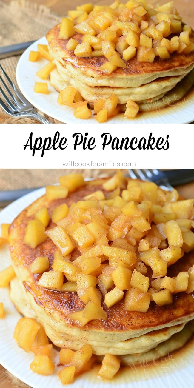 Apple Pie Pancakes from willcookforsmiles.com