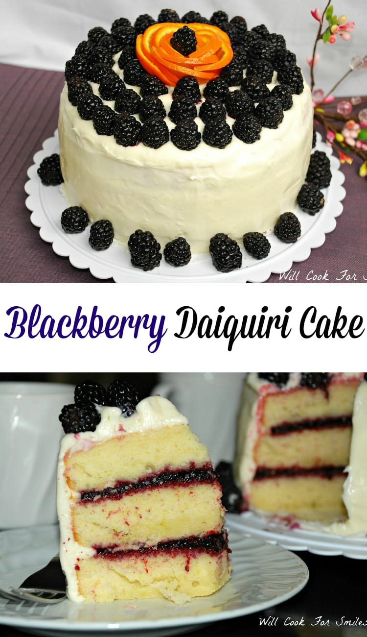 Blackberry Daiquiri Cake - Will Cook For Smiles