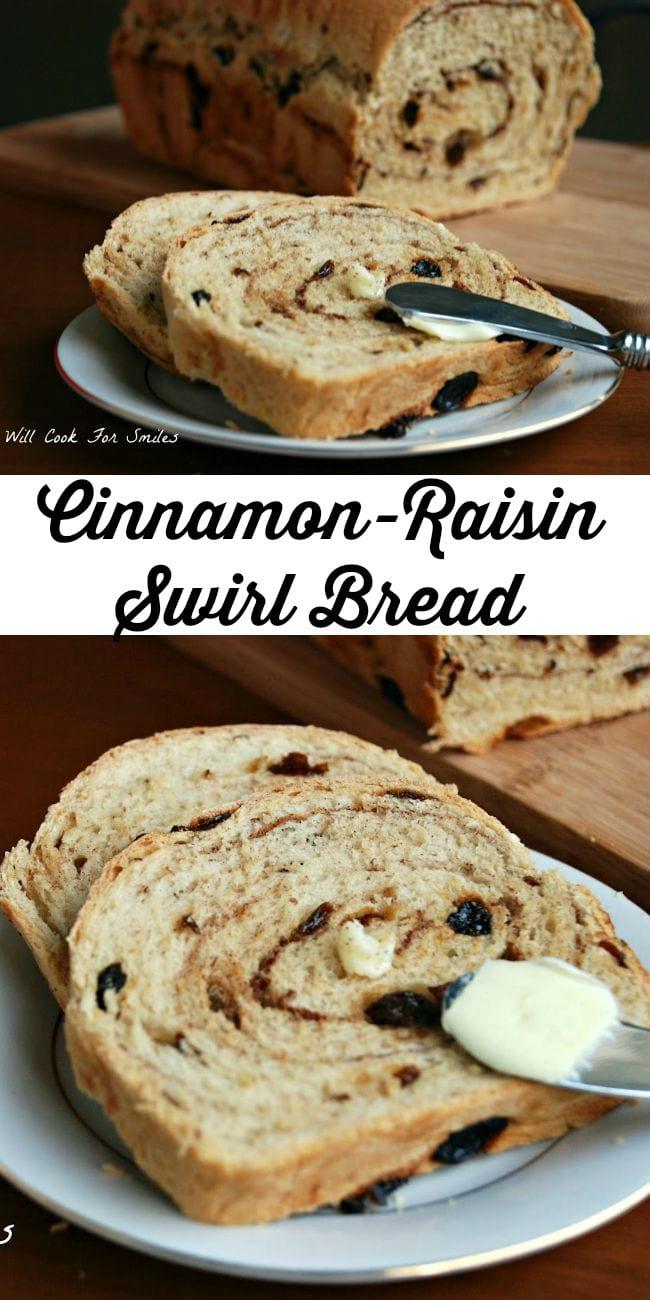 Cinnamon-Raisin Swirl Bread | from willcookforsmiles.com