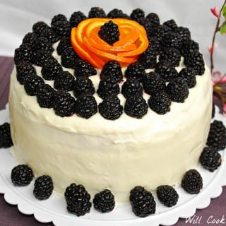 Blackberry Daiquiri Cake