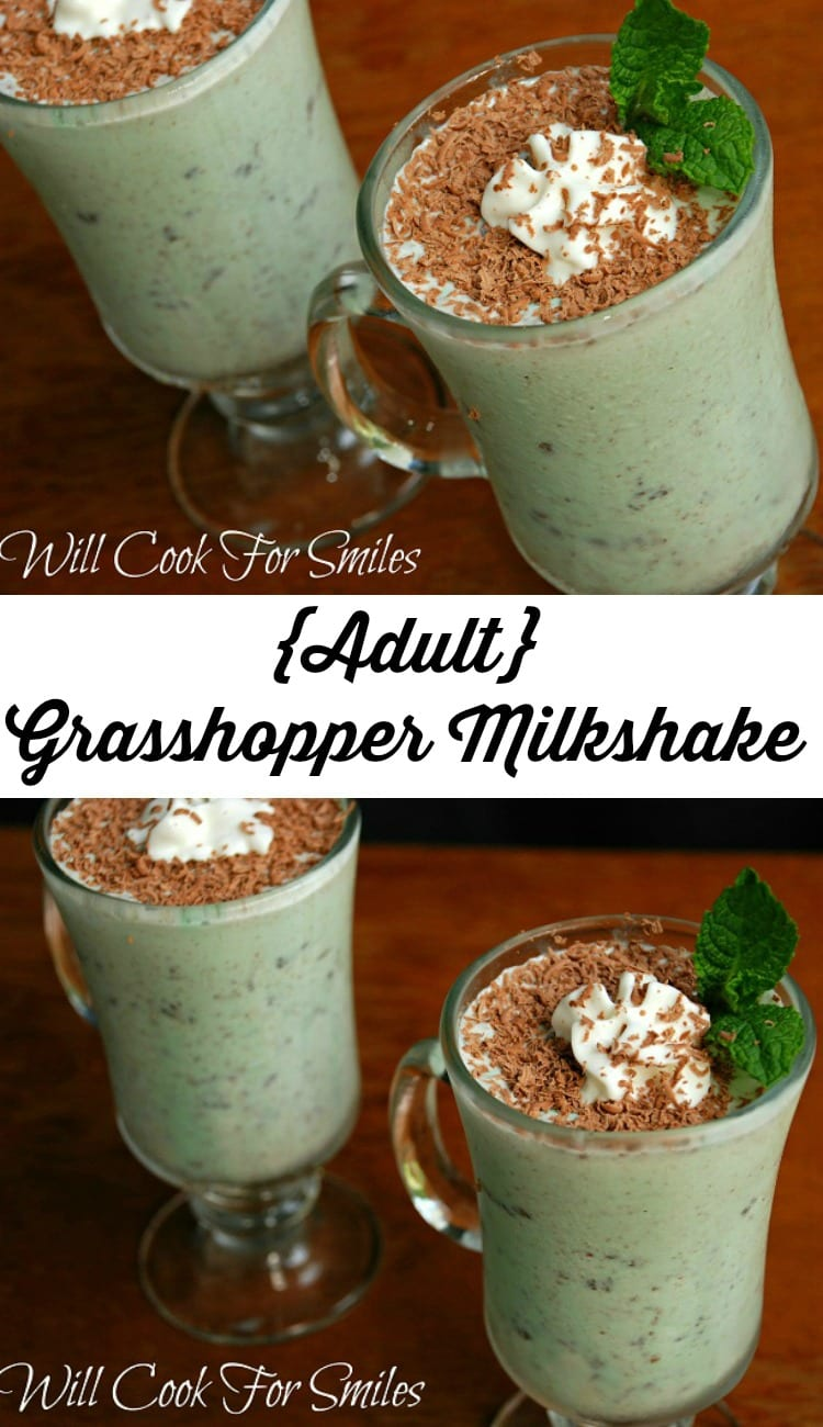 Adult Grasshopper Milkshake  from willcookforsmiles.com