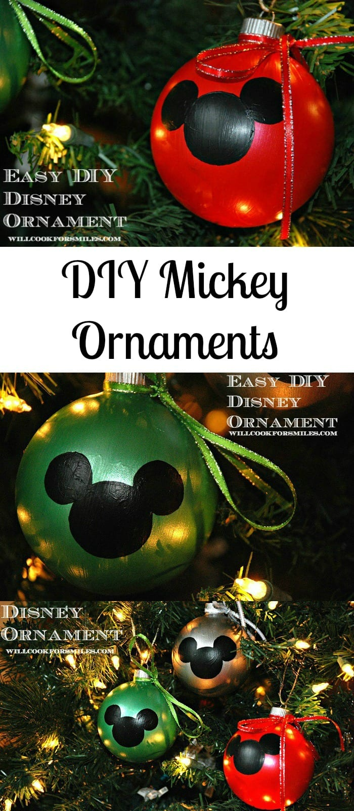 Easy DIY Disney Ornaments  from willcookforsmiles.com