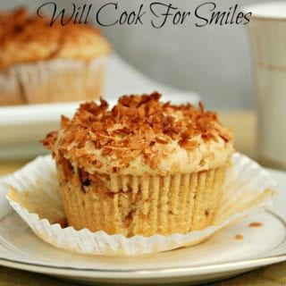 Toasted Coconut Coffee Muffins