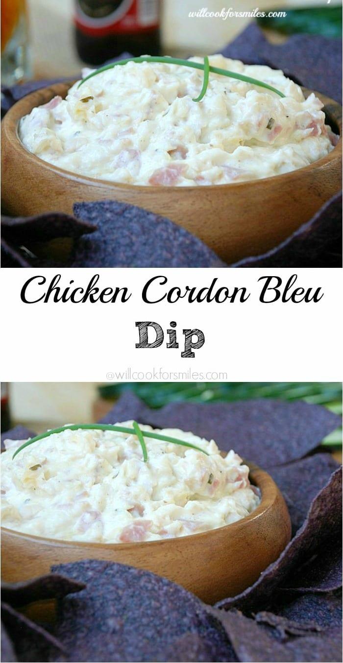 Chicken Cordon Bleu Dip - from willcookforsmiles.com 1