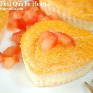 Tomato Feta Quiche Hearts, #Valentine's Day Breakfast For Two