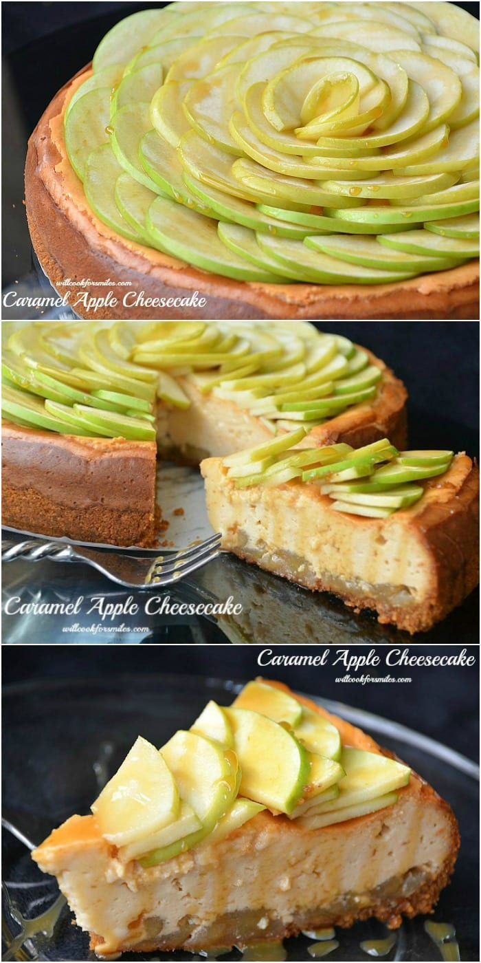 Caramel Apple Cheesecake collage