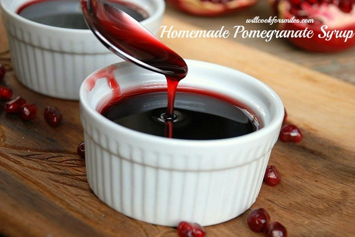 Homemade Pomegranate Syrup {recipe} - Will Cook For Smiles