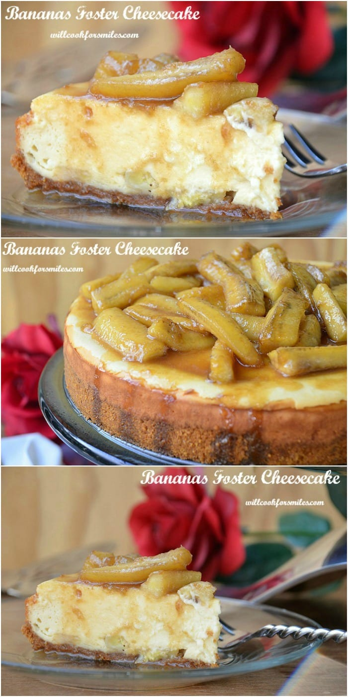 Bananas Foster Cheesecake  from willcookforsmiles.com