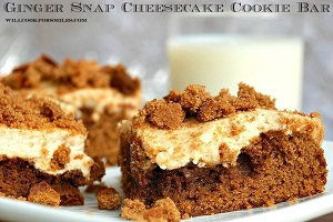 Gingersnap Cheesecake Cookie Bar 7ed