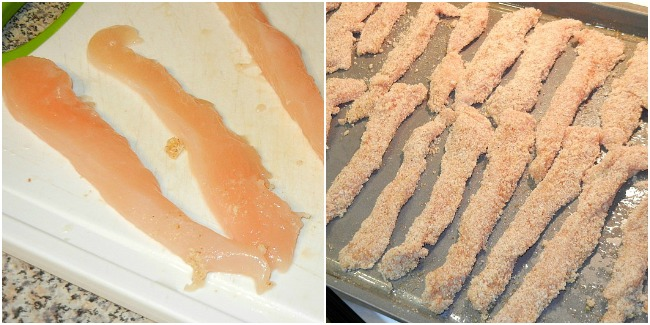 Homemade Chicken Fries Collage