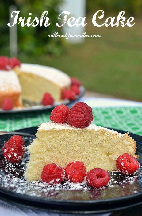 Irish Tea Cake. Easy and delicious cake to make for breakfast with a cup of tea and fresh berries!