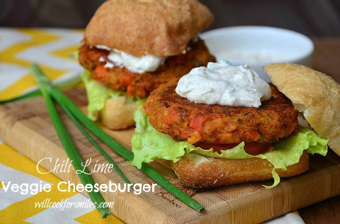Chili Lime Vegetarian Burger - Will Cook For Smiles