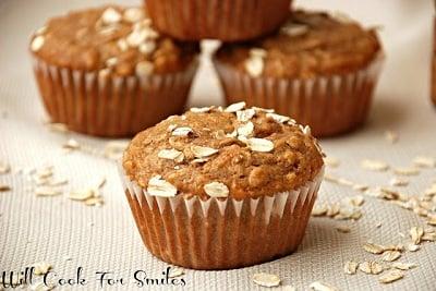 Cinnamon Honey Oat Muffins ed