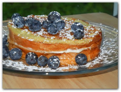 Stuffed Blueberry French Toast!