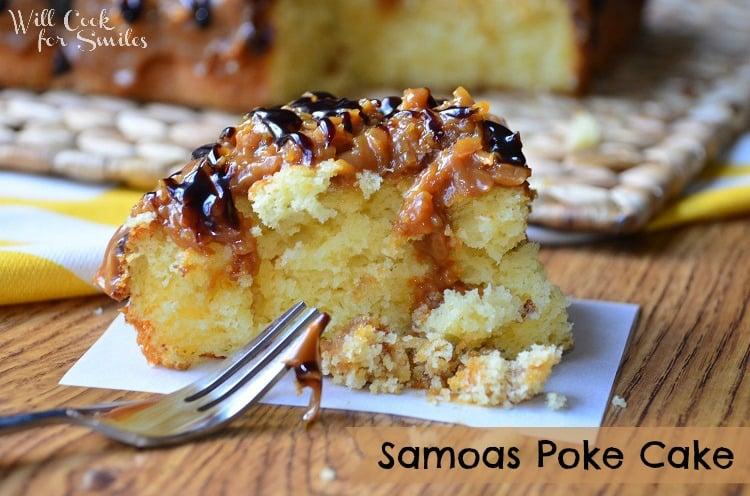 Samoas-Poke-Cake 1 willcookforsmiles.com