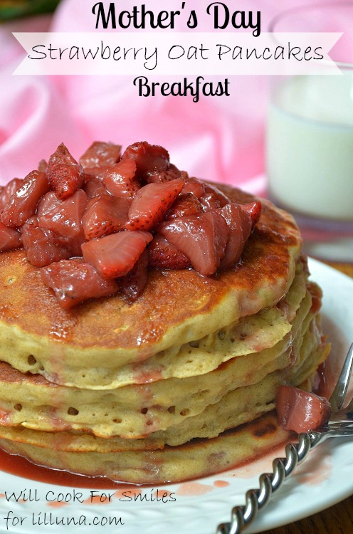 Strawberry-Topped-Oat-Pancakes 5ed willcookforsmiles.com