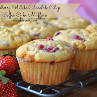 Strawberry Chip Coffee Cake Muffins