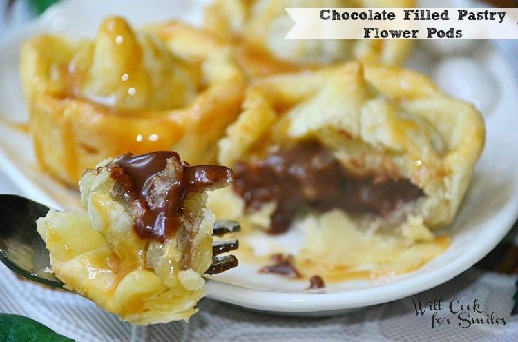Chocolate-Caramel-Pastry-Flower-Pods 3 willcookforsmiles.com