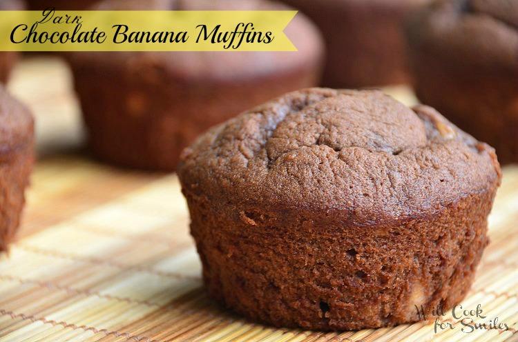 Dark-Chocolate-Banana-Muffins 5 willcookforsmiles.com