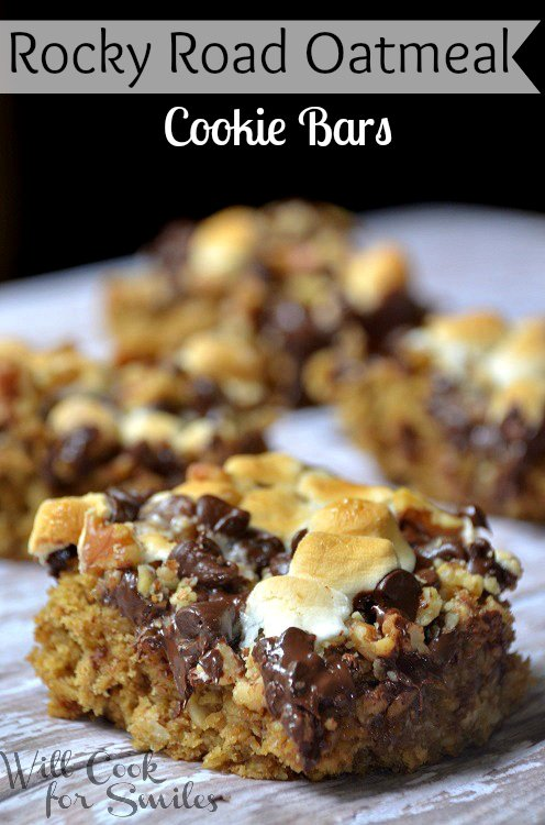 Rocky-Road-Oatmeal-Cookie-Bars 1 willcookforsmiles.com