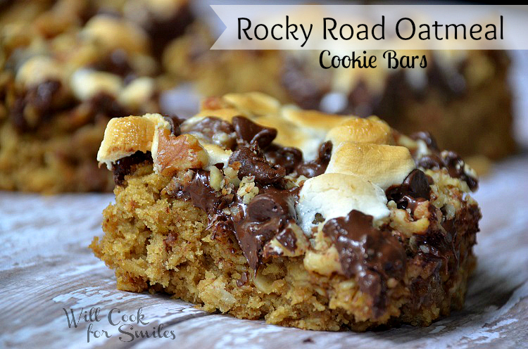 Rocky-Road-Oatmeal-Cookie-Bars 3 willcookforsmiles.com