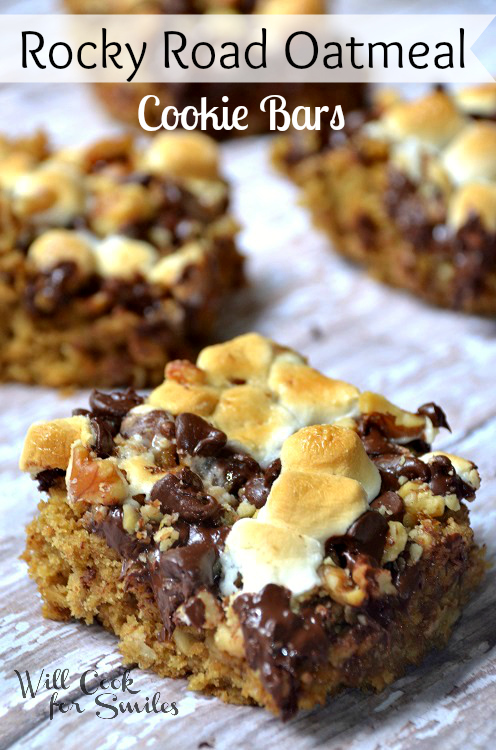 Rocky-Road-Oatmeal-Cookie-Bars willcookforsmiles.com