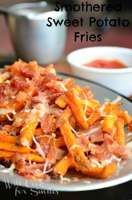 Smothered-sweet-potato-fries 4 willcookforsmiles.com