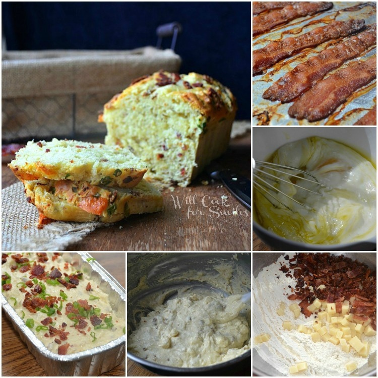 Bacon-Cheese-Bread Collage