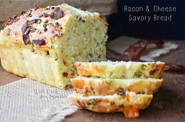 Bacon-Cheese-Savory-Bread 2 willcookforsmiles.com