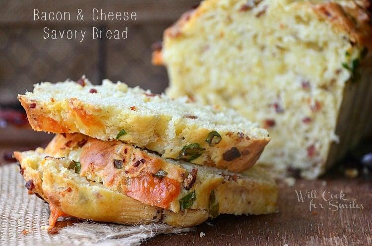 Bacon-Cheese-Savory-Bread 3 willcookforsmiles.com
