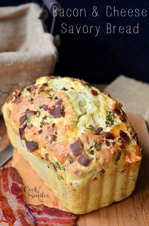 Bacon-Cheese-Savory-Bread willcookforsmiles.com