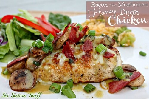 Bacon and Mushroom Honey Dijon Chicken