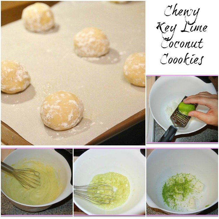 Chewy-Key-Lime-Coconut-Cookies Collage