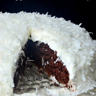 Chocolate Cake with Whipped Coconut Frosting