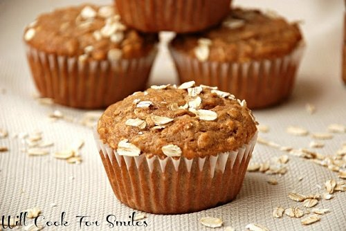 Cinnamon Honey Oat Muffins ed