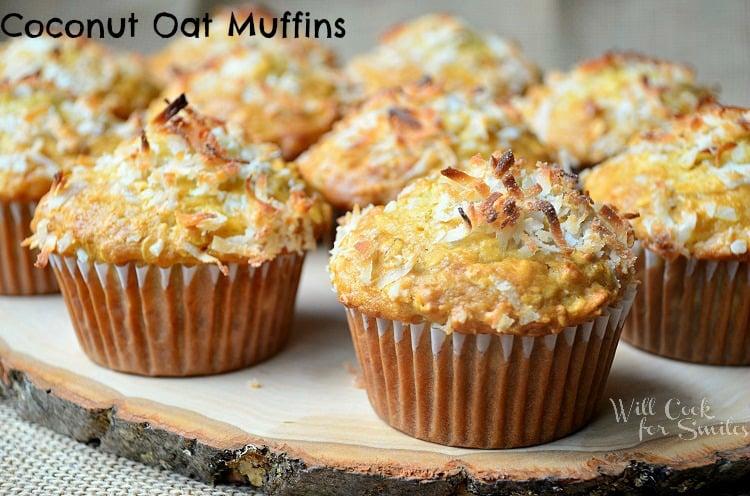 Coconut Mango Oat Muffins Recipe — Dishmaps